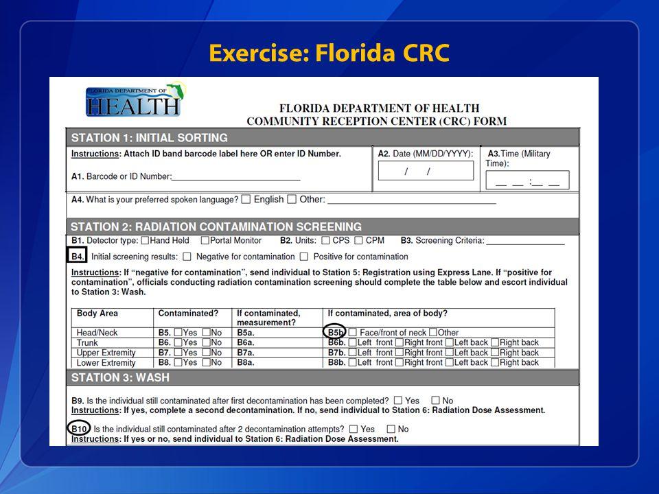 Exercise: Florida CRC