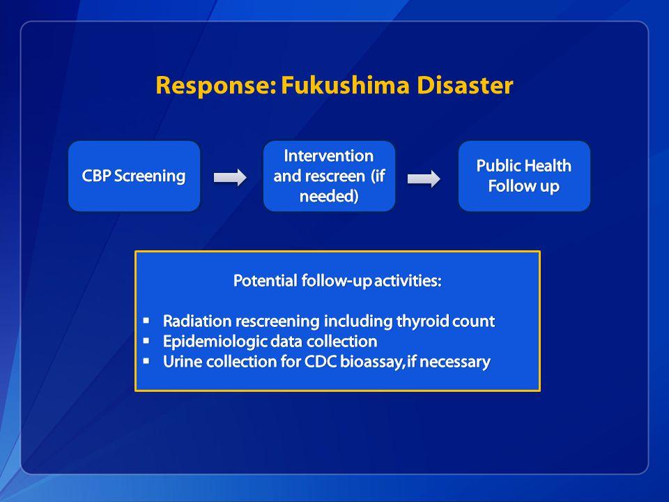 Response: Fukushima Disaster