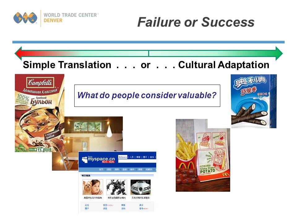 Failure or Success Simple Translation... or...