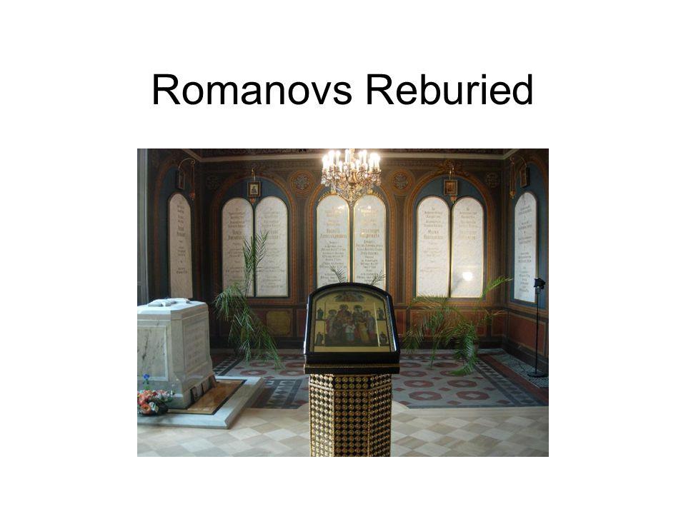 Romanovs Reburied