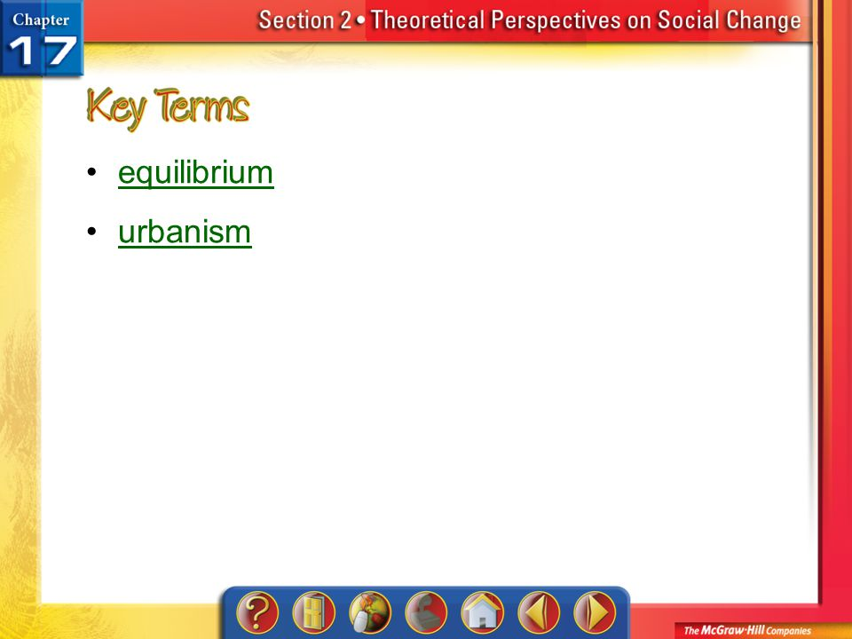 Section 2-Key Terms equilibrium urbanism