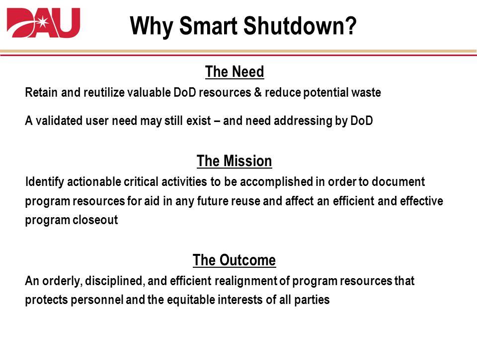 Why Smart Shutdown.