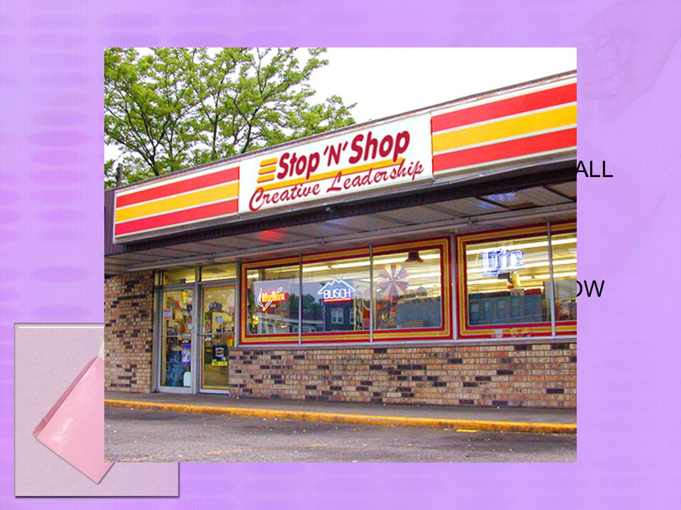 What a customer wants… 1.CONVENIENCE STORE = A SMALL SHOP, OPENED LONG HOURS 2.DEEP DISCOUNTER = A SUPERMARKET WITH VERY LOW PRICES