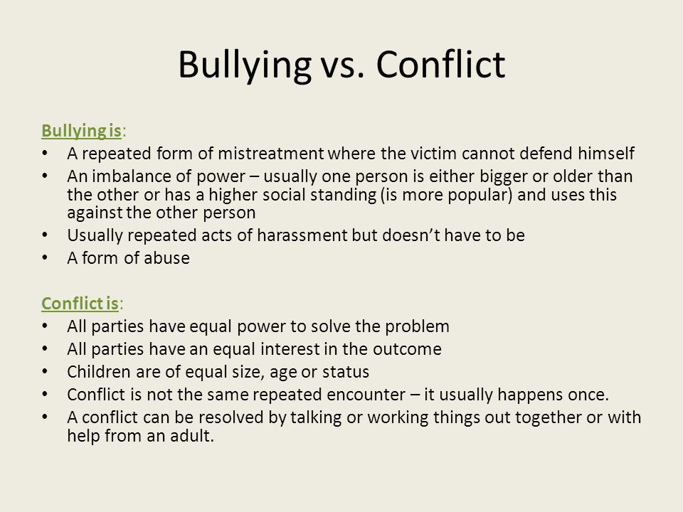 Bullying vs.