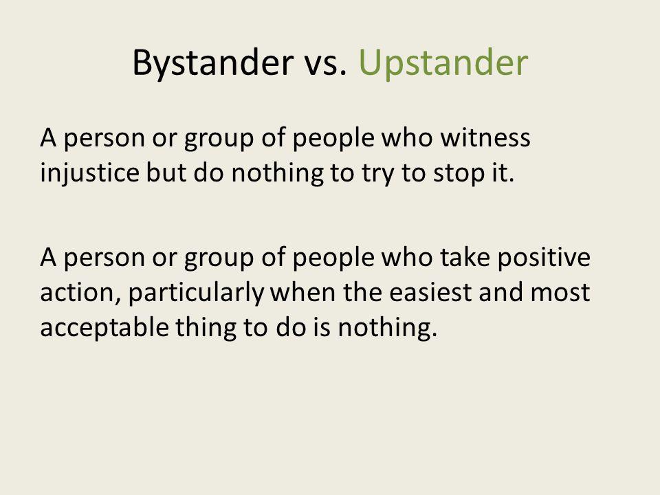Bystander vs.