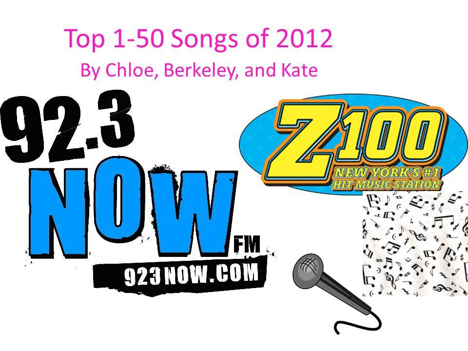 Top 1-50 Songs of 2012 By Chloe, Berkeley, and Kate