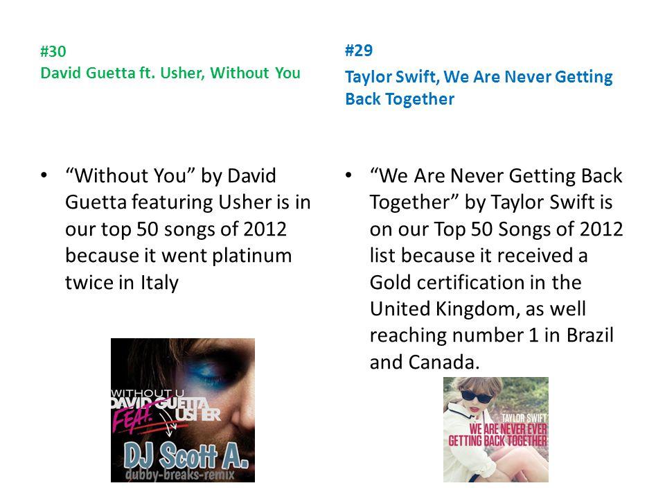 #30 David Guetta ft.