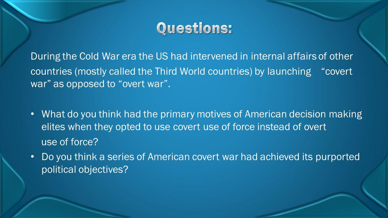 David Isenberg, The Pitfalls of U.S.Covert Operations , Cato Policy Analysis No.
