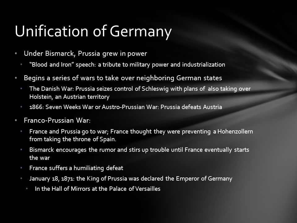 Germany and France became bitter enemies Germany gained control of Alsace-Lorraine (both were rich, industrial provinces) Germany will become and economic and military power Germany joins other nations in their quest to build an empire (imperialism…more on this in our next unit) Unification of Germany
