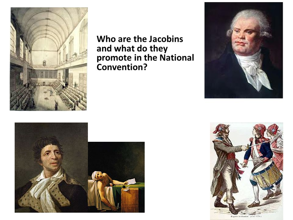 Who are the Jacobins and what do they promote in the National Convention?