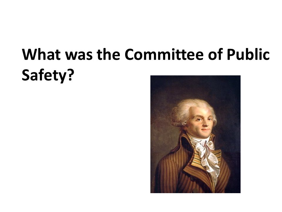 What was the Committee of Public Safety?