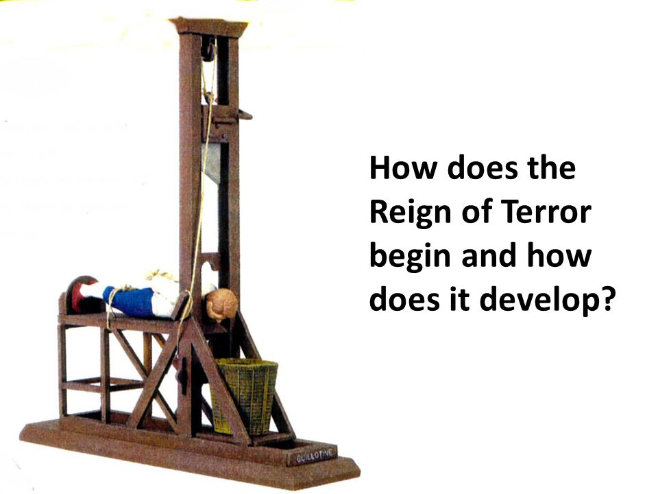 How does the Reign of Terror begin and how does it develop?