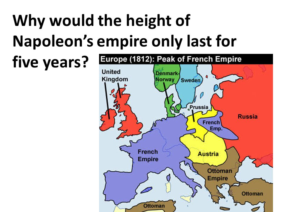 Why would the height of Napoleon's empire only last for five years?