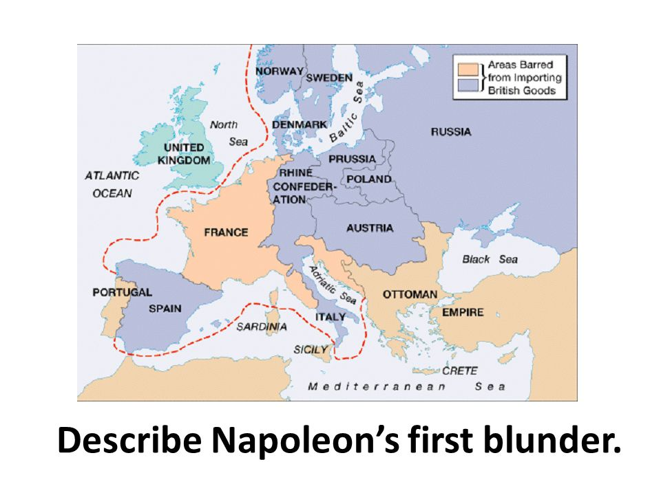 Describe Napoleon's first blunder.
