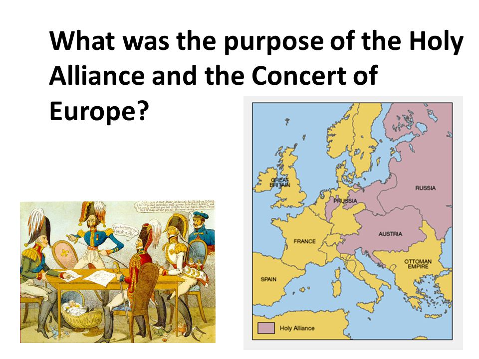 What was the purpose of the Holy Alliance and the Concert of Europe