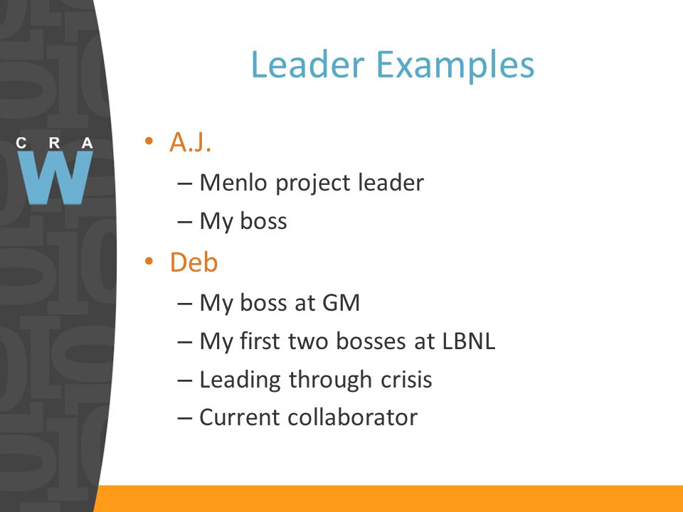 Leader Examples A.J.