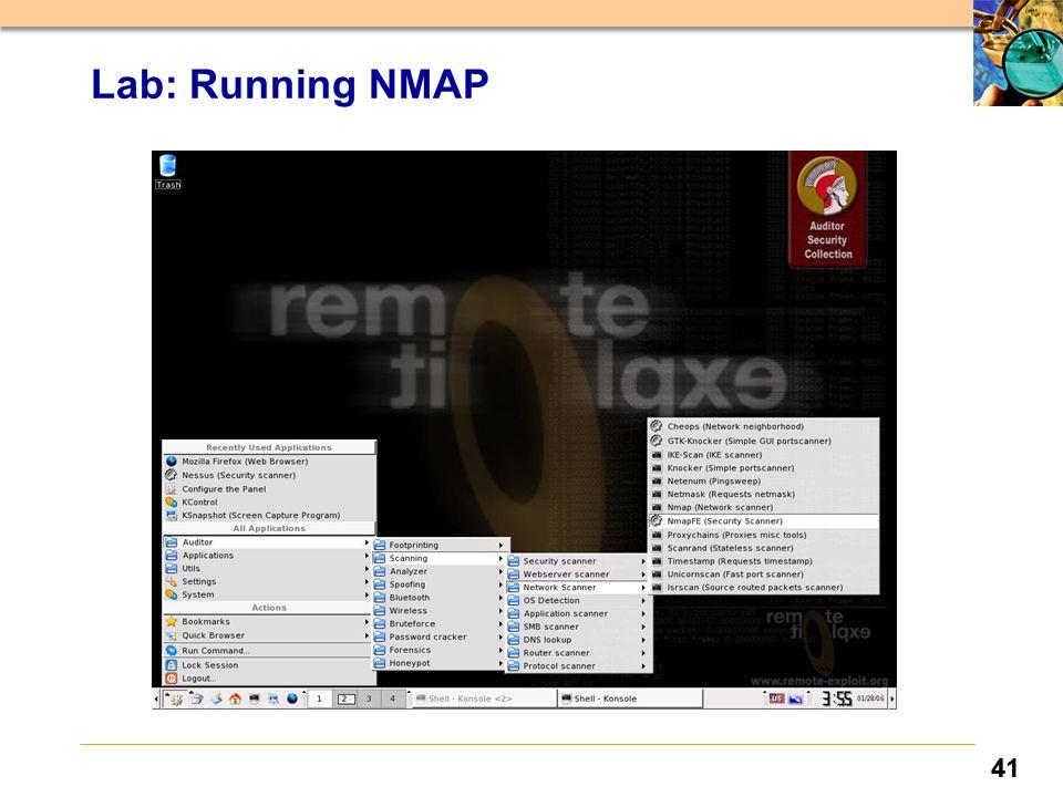 41 Lab: Running NMAP