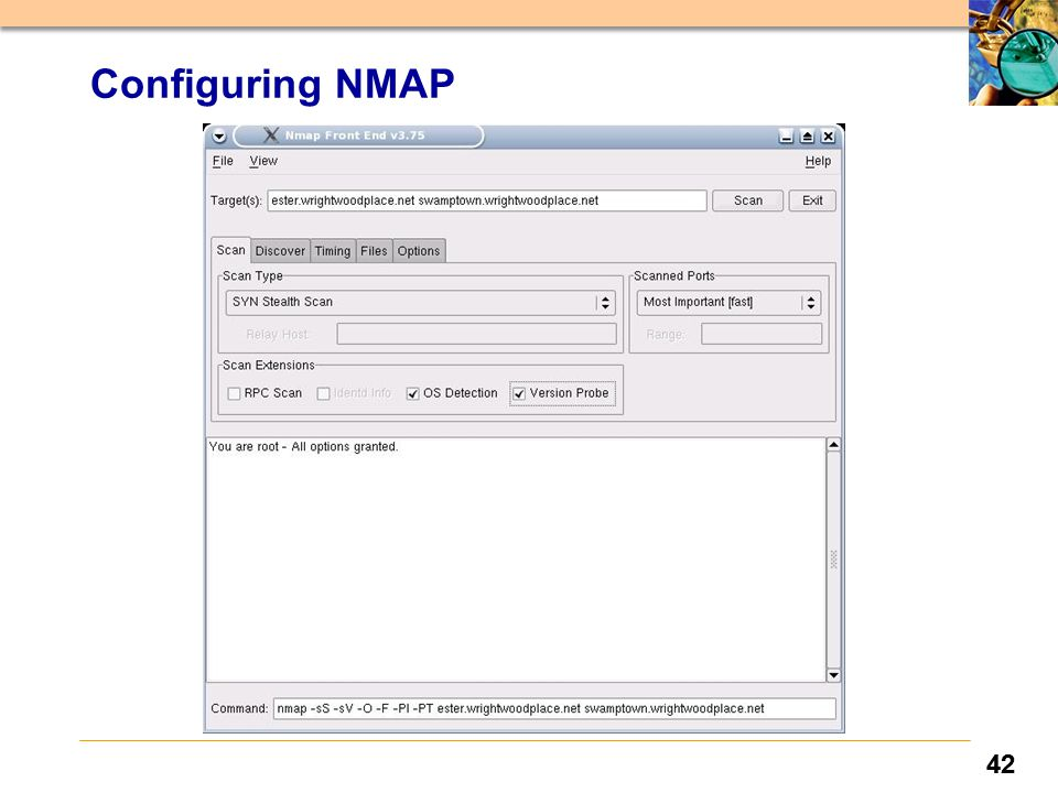 42 Configuring NMAP