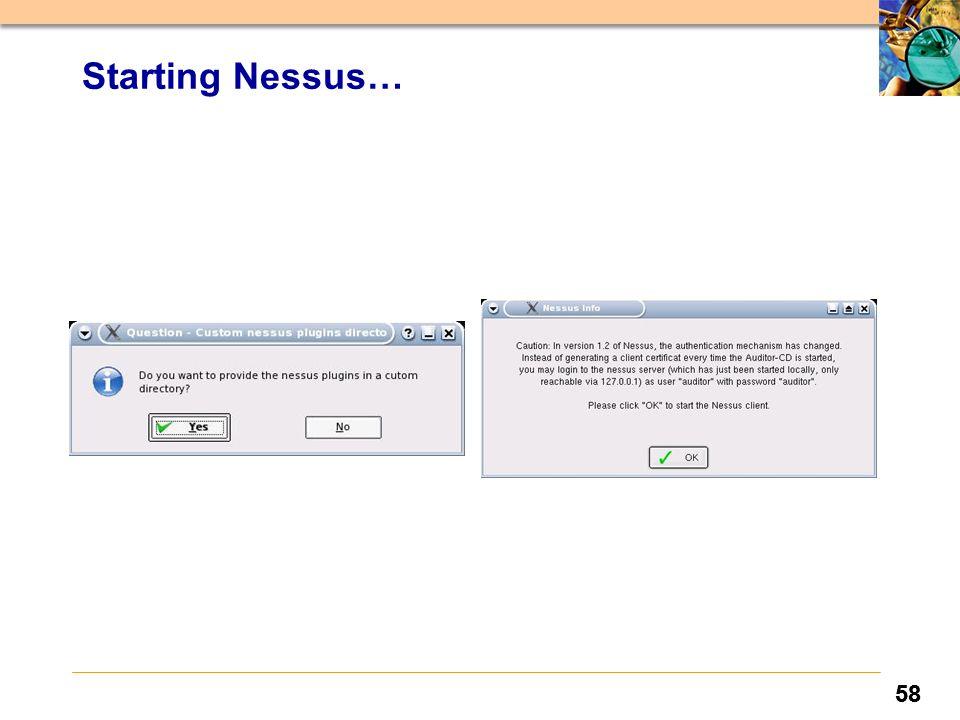 58 Starting Nessus…