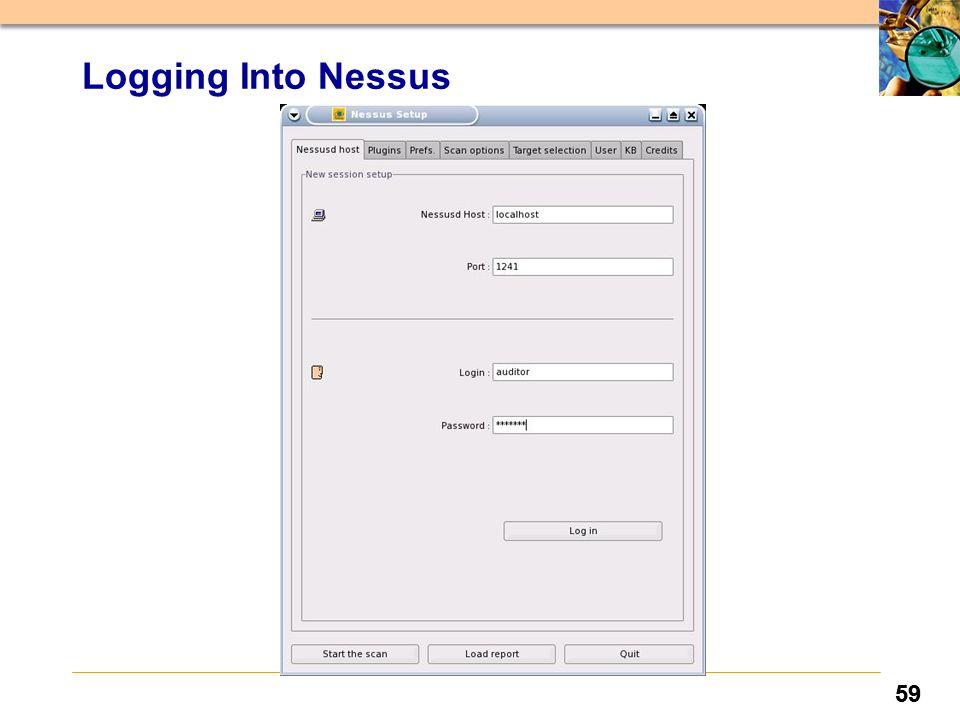 59 Logging Into Nessus