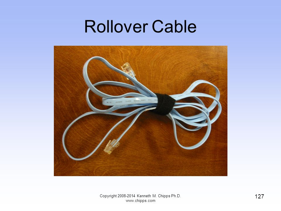 Copyright 2008-2014 Kenneth M. Chipps Ph.D. www.chipps.com 127 Rollover Cable
