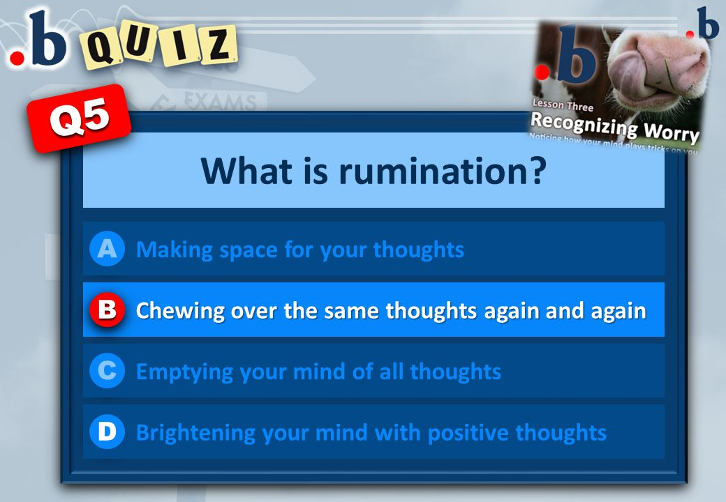 What is rumination.