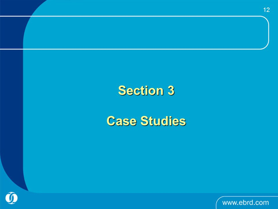 12 Section 3 Case Studies
