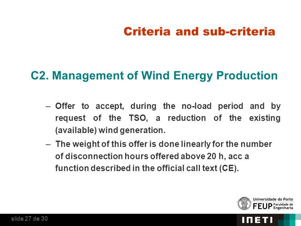 Criteria and sub-criteria C2.