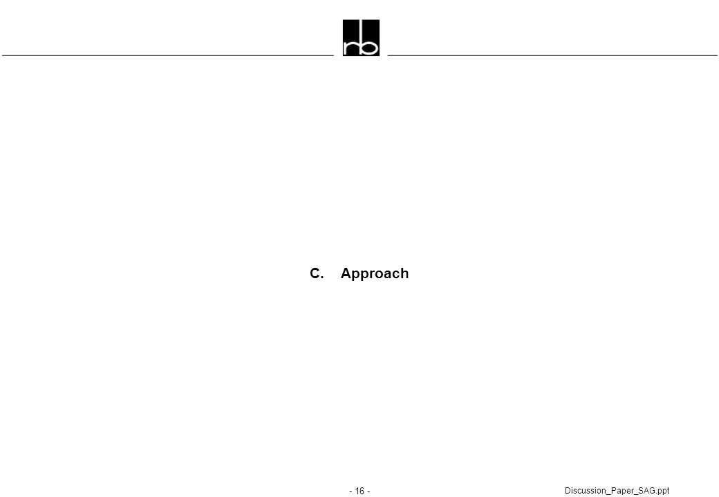 - 16 - Discussion_Paper_SAG.ppt C. Approach