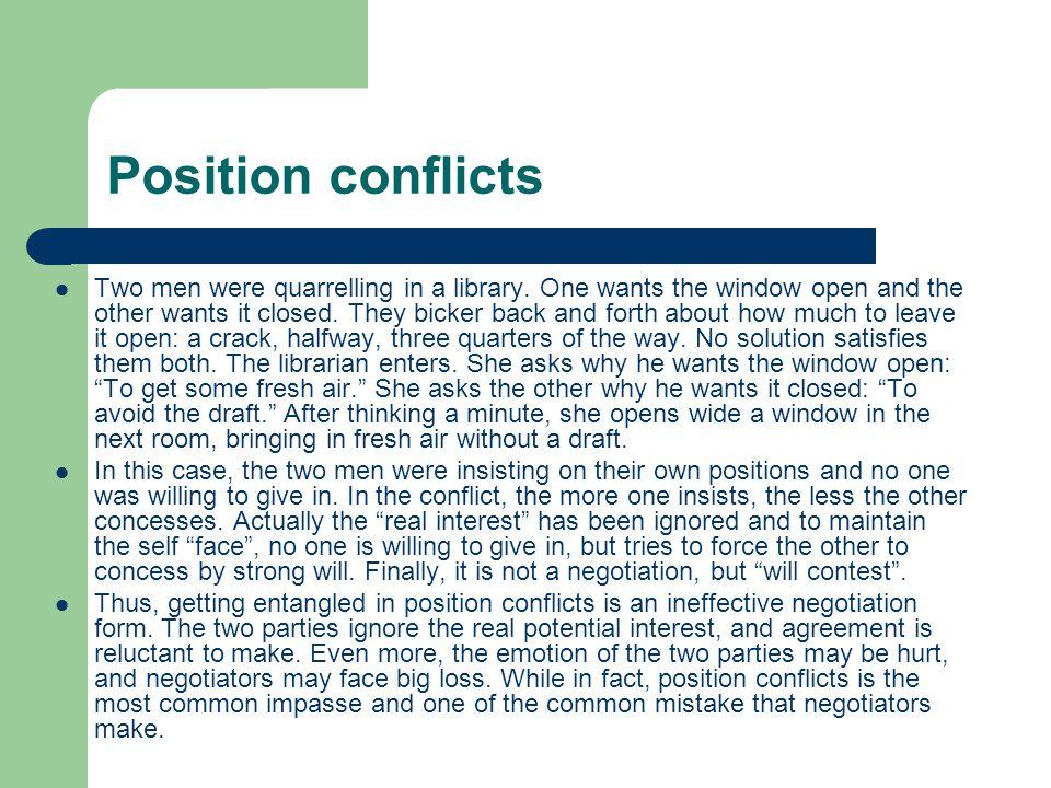 Coercion Coercion is destructive to negotiation for it means unequal and unreasonable.