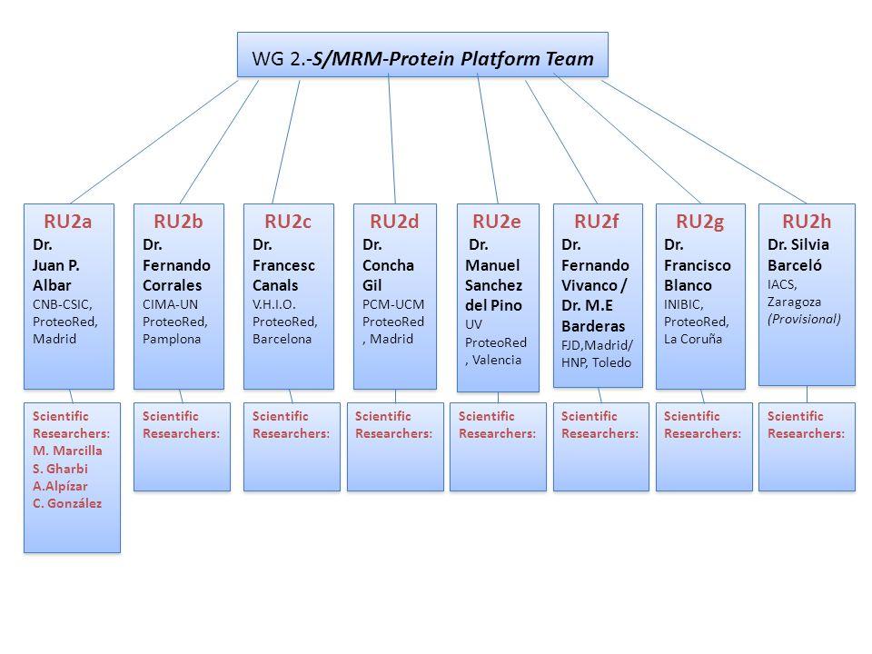 WG 2.-S/MRM-Protein Platform Team RU2a Dr. Juan P.