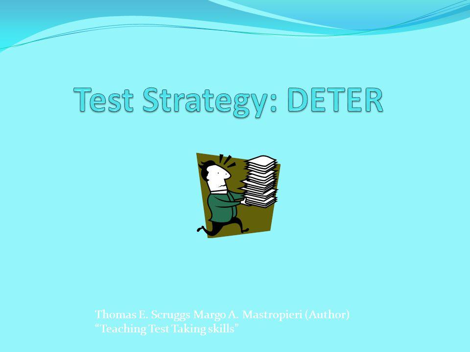 Thomas E. Scruggs Margo A. Mastropieri (Author) Teaching Test Taking skills
