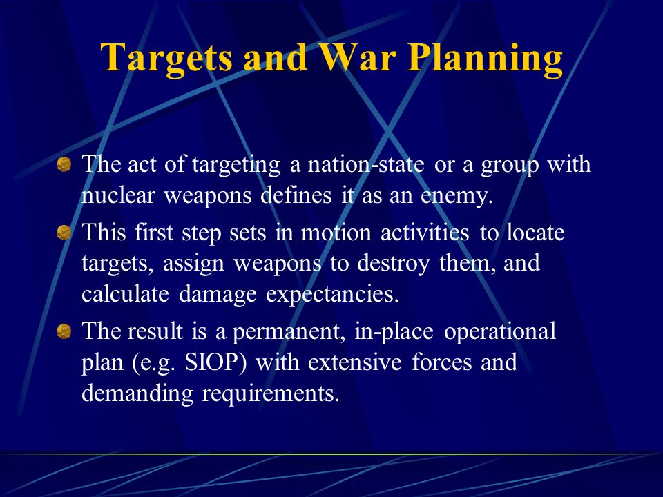 Don't Make Things Worse Reject the integration of national missile defense with offensive nuclear deterrent forces.