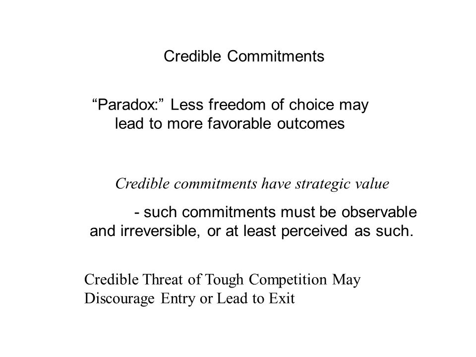 Taxonomy of business strategies - Informal More aggressive behavior by Firm 1 implies less aggressive behavior by Firm 2.