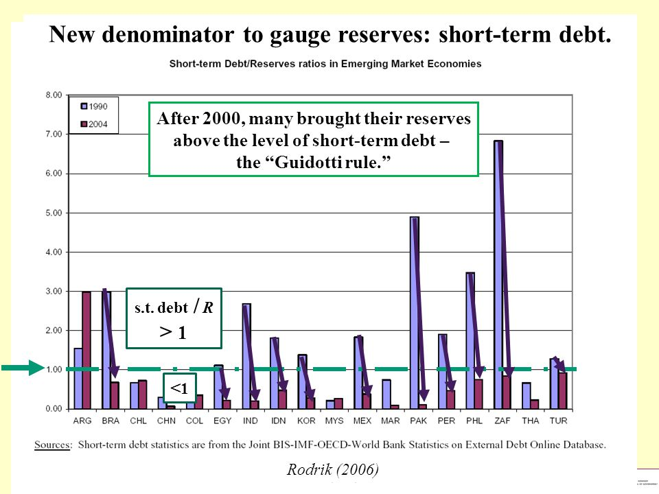 New denominator to gauge reserves: short-term debt.