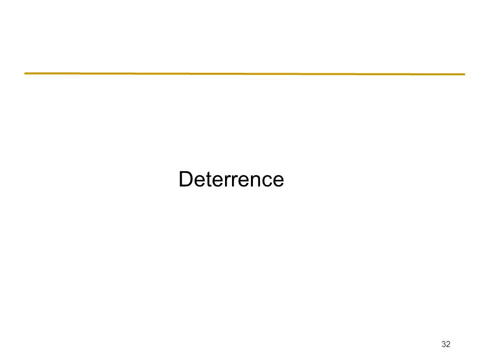 32 Deterrence