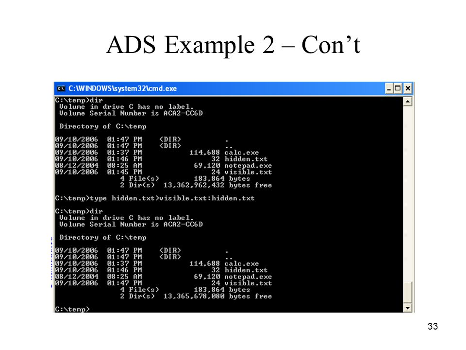 33 ADS Example 2 – Con't