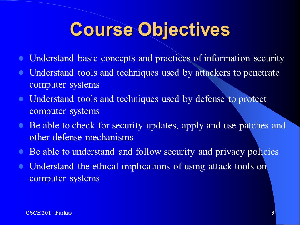 Terrorism Traditional: – Intelligence collection – Psyops and perception management New forms: – Exploitation of computer technologies Internet propaganda Cyber attacks (electronic mail flooding, DOS, etc.) Protection of national infrastructure