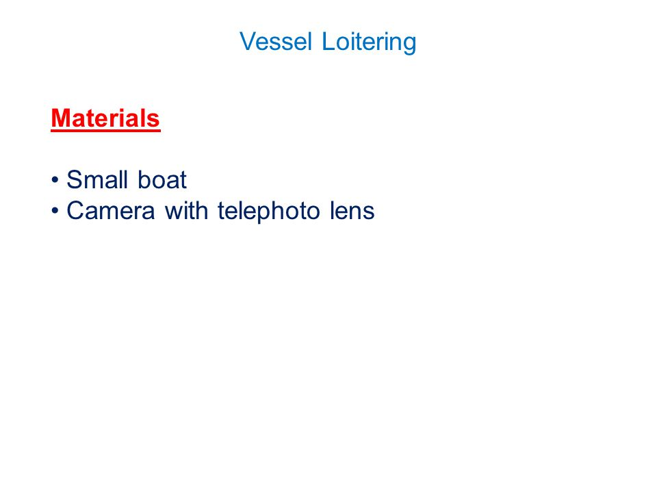 Vessel Loitering Materials Small boat Camera with telephoto lens