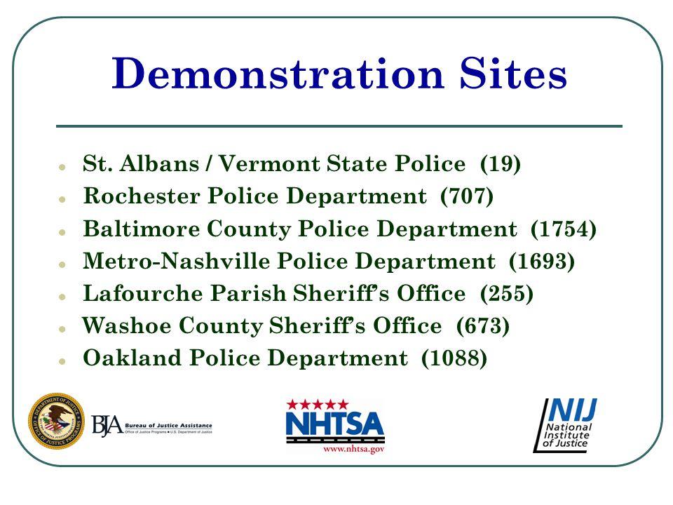 Demonstration Sites ● St.