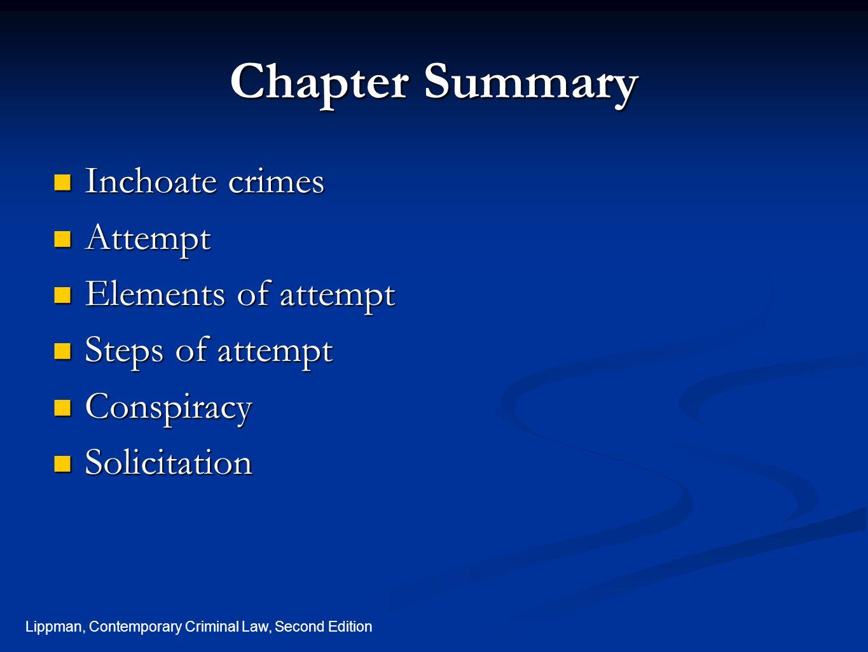 Lippman, Contemporary Criminal Law, Second Edition Conspiracy, cont.