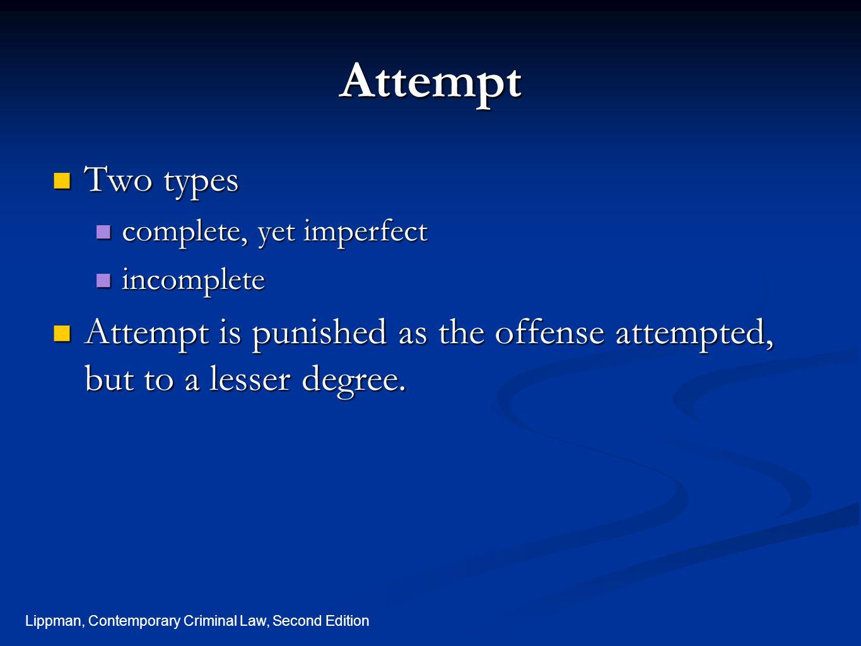Lippman, Contemporary Criminal Law, Second Edition Legal Equation