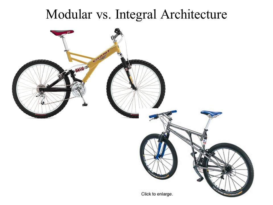 Modular vs. Integral Architecture