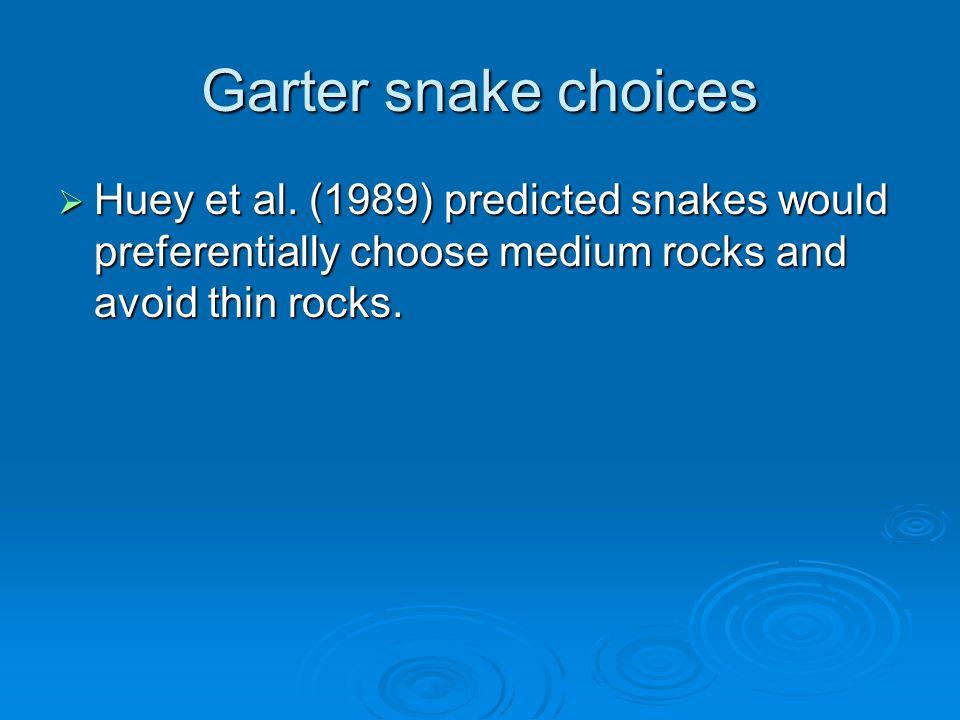 Garter snake choices  Huey et al.