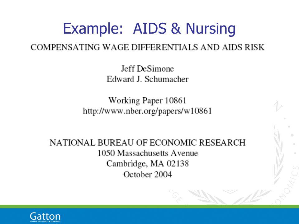 Example: AIDS & Nursing