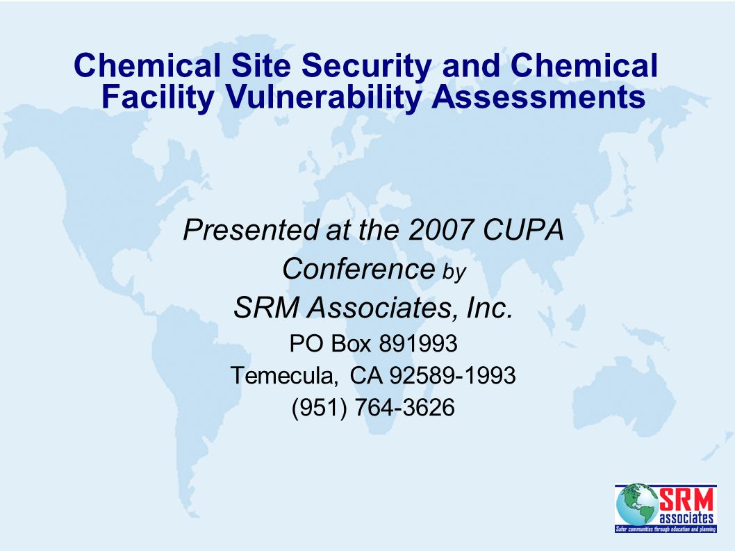 Presented at the 2007 CUPA Conference by SRM Associates, Inc.