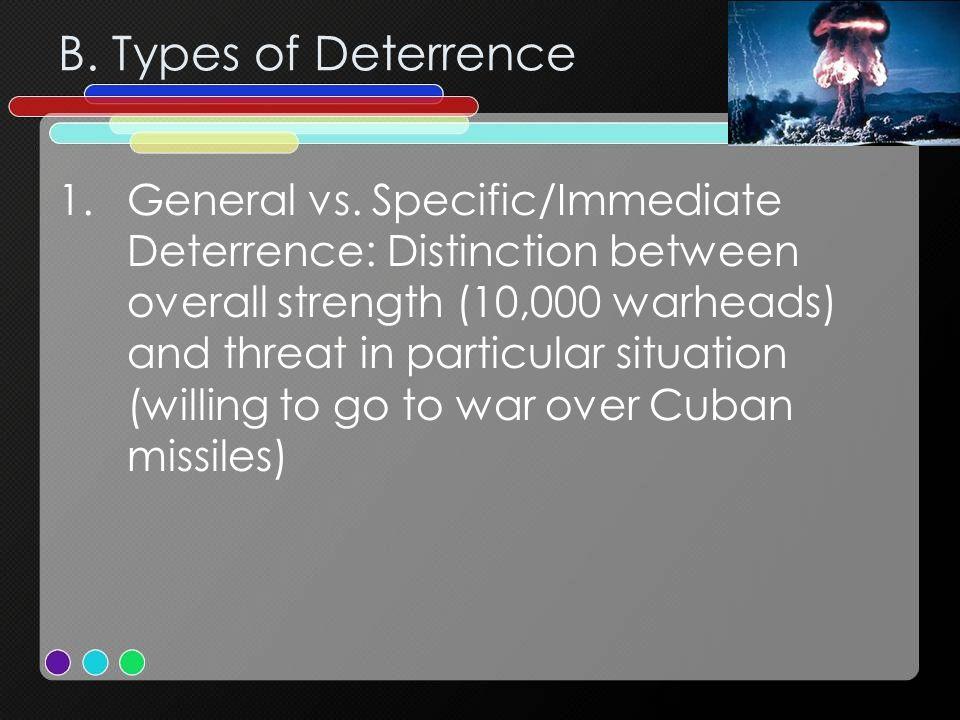 B.Types of Deterrence 1.General vs.