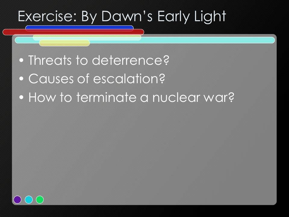 Exercise: By Dawn's Early Light Threats to deterrence.