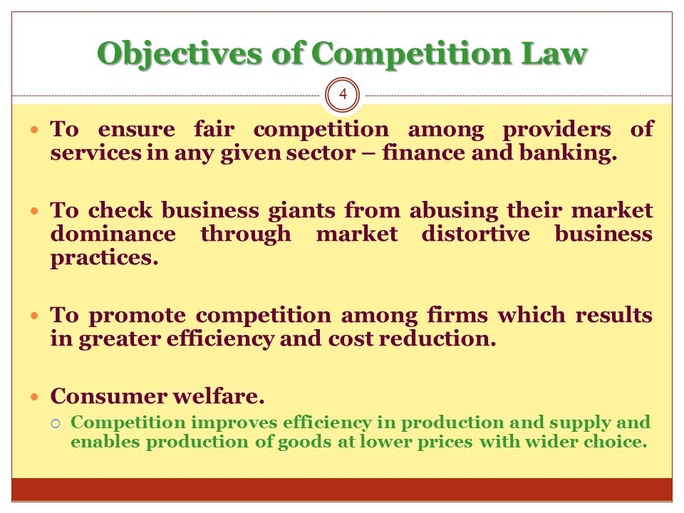 Brief Background to Competition Law Dates back to Roman Empire where Roman Legislators tried to control price fluctuations and unfair trade practices.