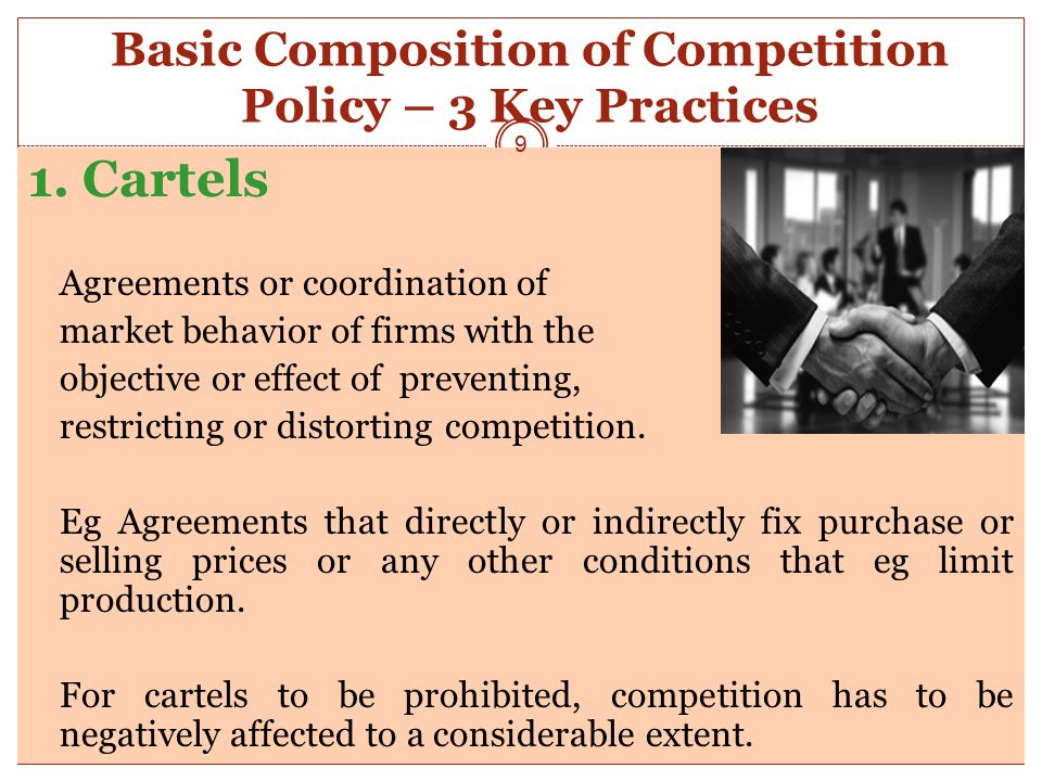 Basic Composition of Competition Policy – 3 Key Practices 1.